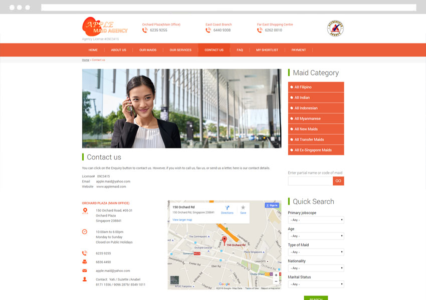 maid agency web design company singapore, maid agency web design, maid agency website development