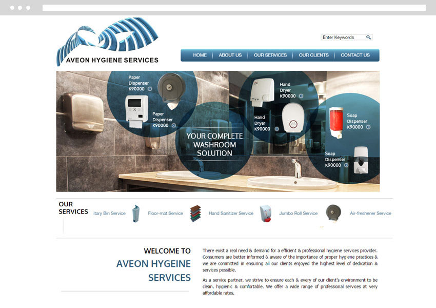 Singapore web design, cleaning company website development, website development singapore