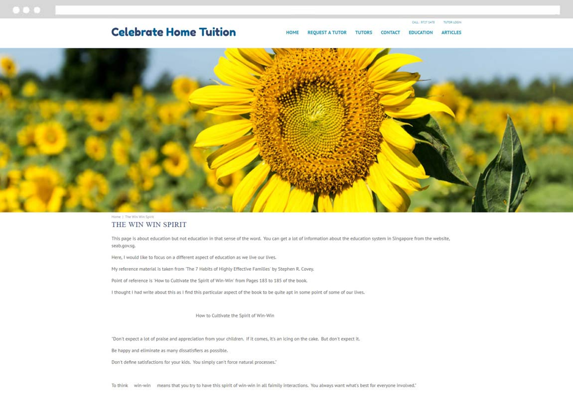 Tuition web design, tuition agency website design, tuition agency web development