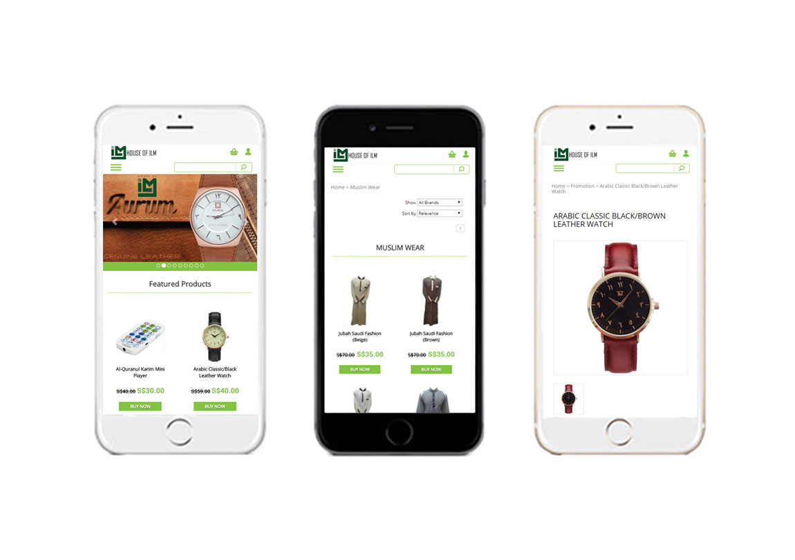 Mobile responsive, mobile friendly ecommerce, ecommerce website, e-commerce website