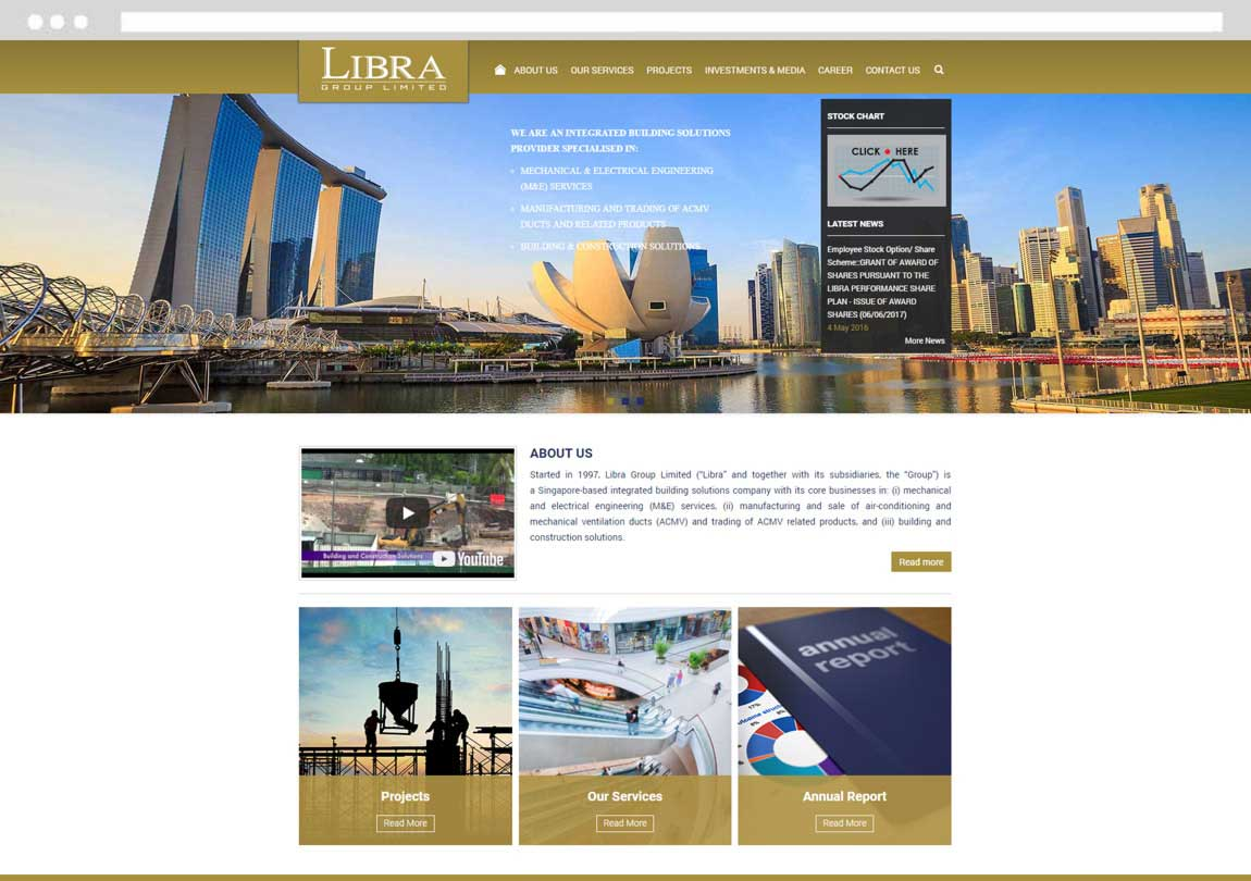 Website Development for Listed Company Singapore, Listed Company Website, Stock Chart Website Singapore
