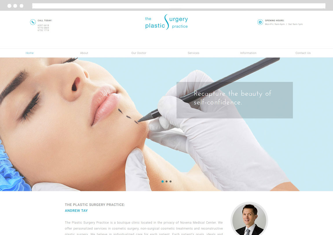 CMS web design, doctor website design, clinic web design company