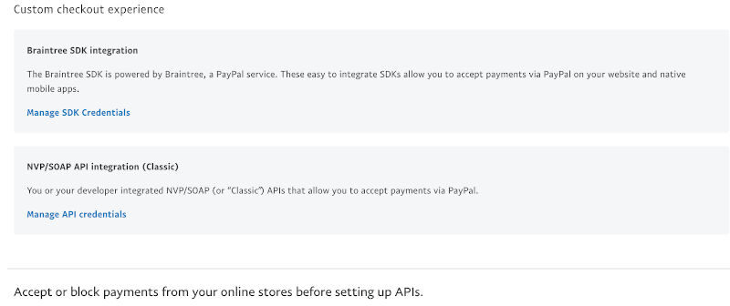 generate paypal api nvp soap api for magento woocommerce online store website